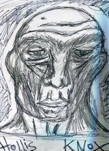 """Hollis Knox"" (Automatic drawing, 2014)"